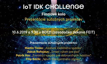 Veľké finále – IoT IDK CHALLENGE